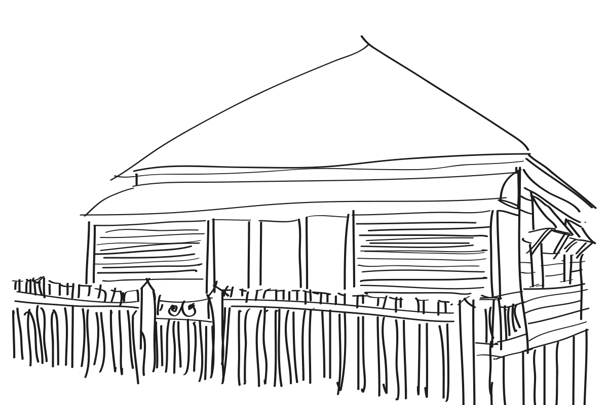 amazing builds sketch of heritage home