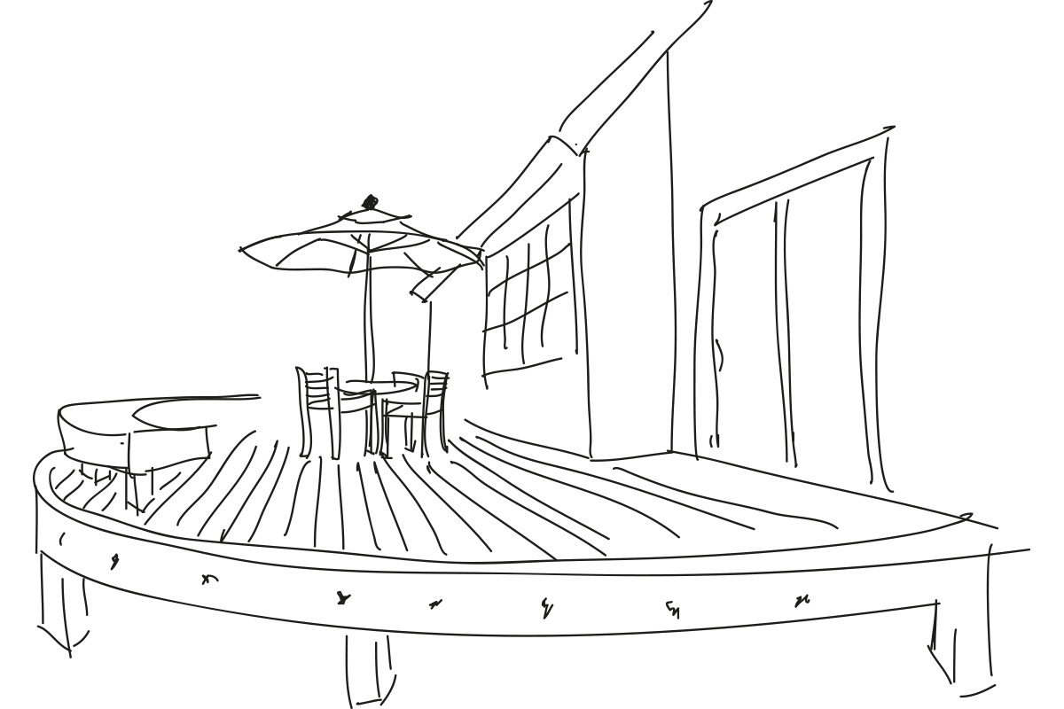 amazing builds sketch of deck for home