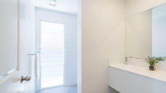bathroom white walls in brisbane house