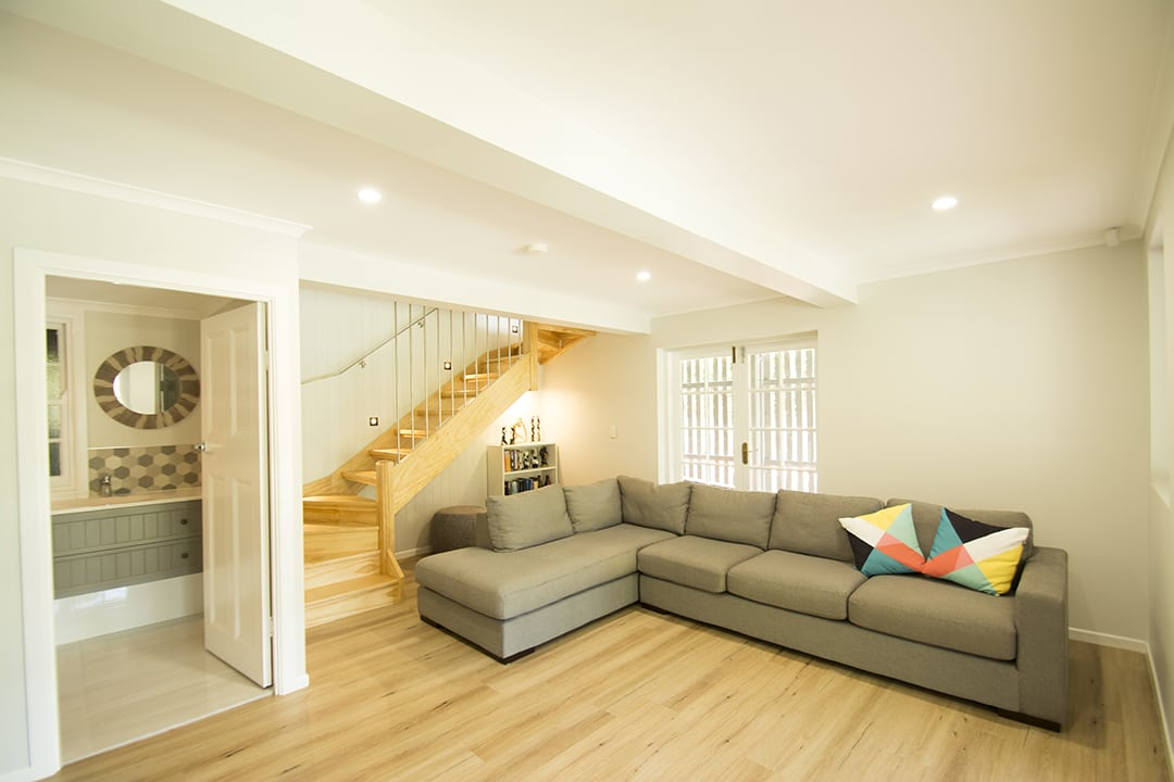 After-Down stairs area