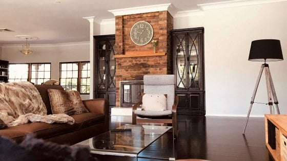 amazing builds dark and rustic living area