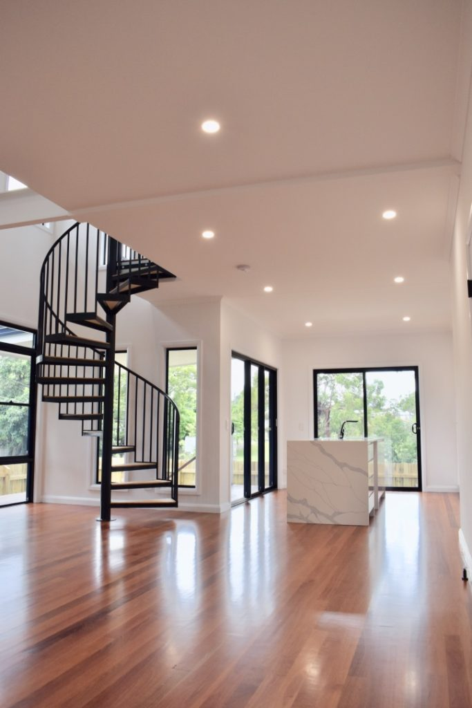 amazing builds granny flat spiral staircase kitchen