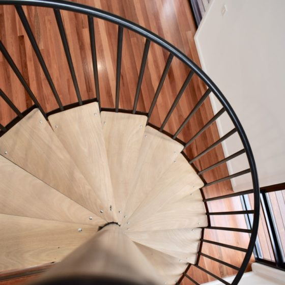 amazing builds granny flat spiral staircase
